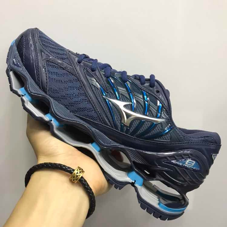 03bc48aba381a Tênis Mizuno Wave Prophecy 8 Importado Azul Escuro - R$ 499,99 em ...