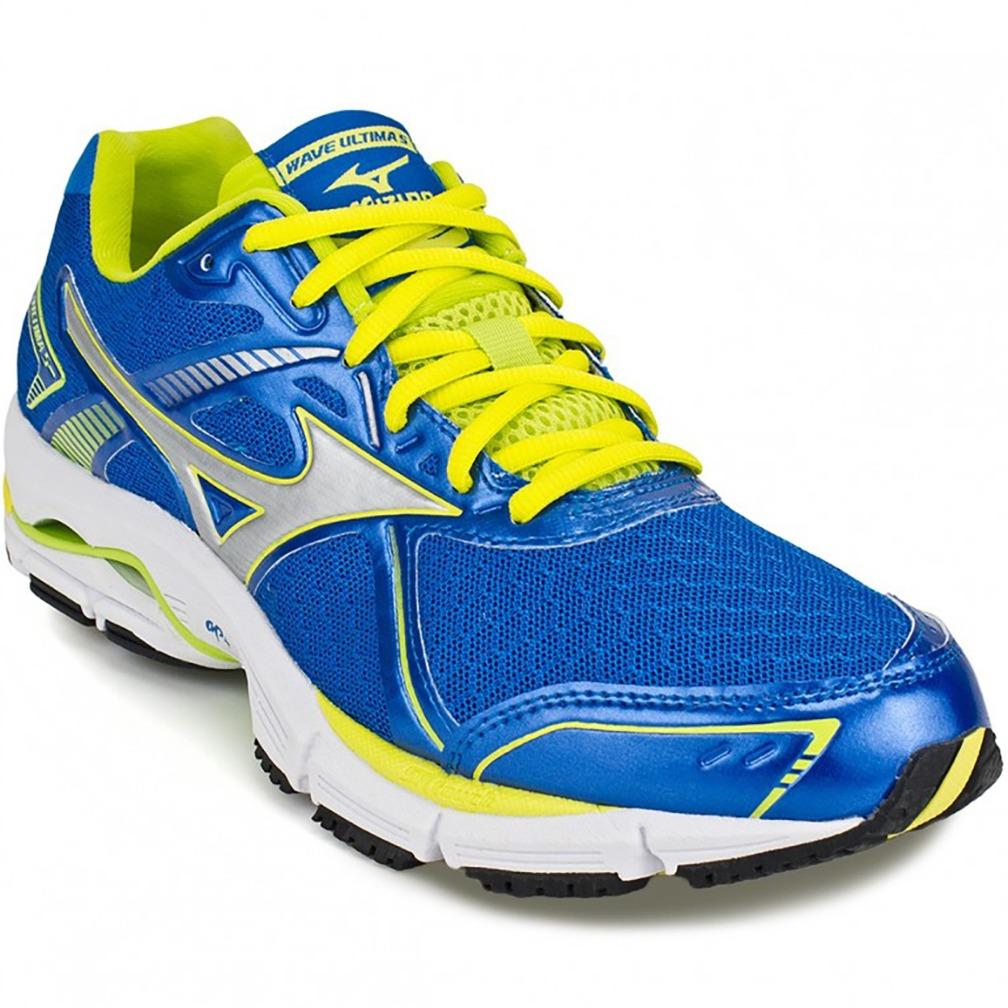 tênis mizuno wave ultima 5 masculino azul e amarelo. Carregando zoom. aa3d32a1c881d