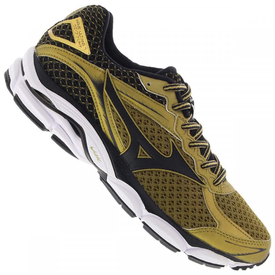 Tênis Mizuno Wave Ultima 7 Gold Runners Made Vietnam + Brind - R ... 6571427b76faa