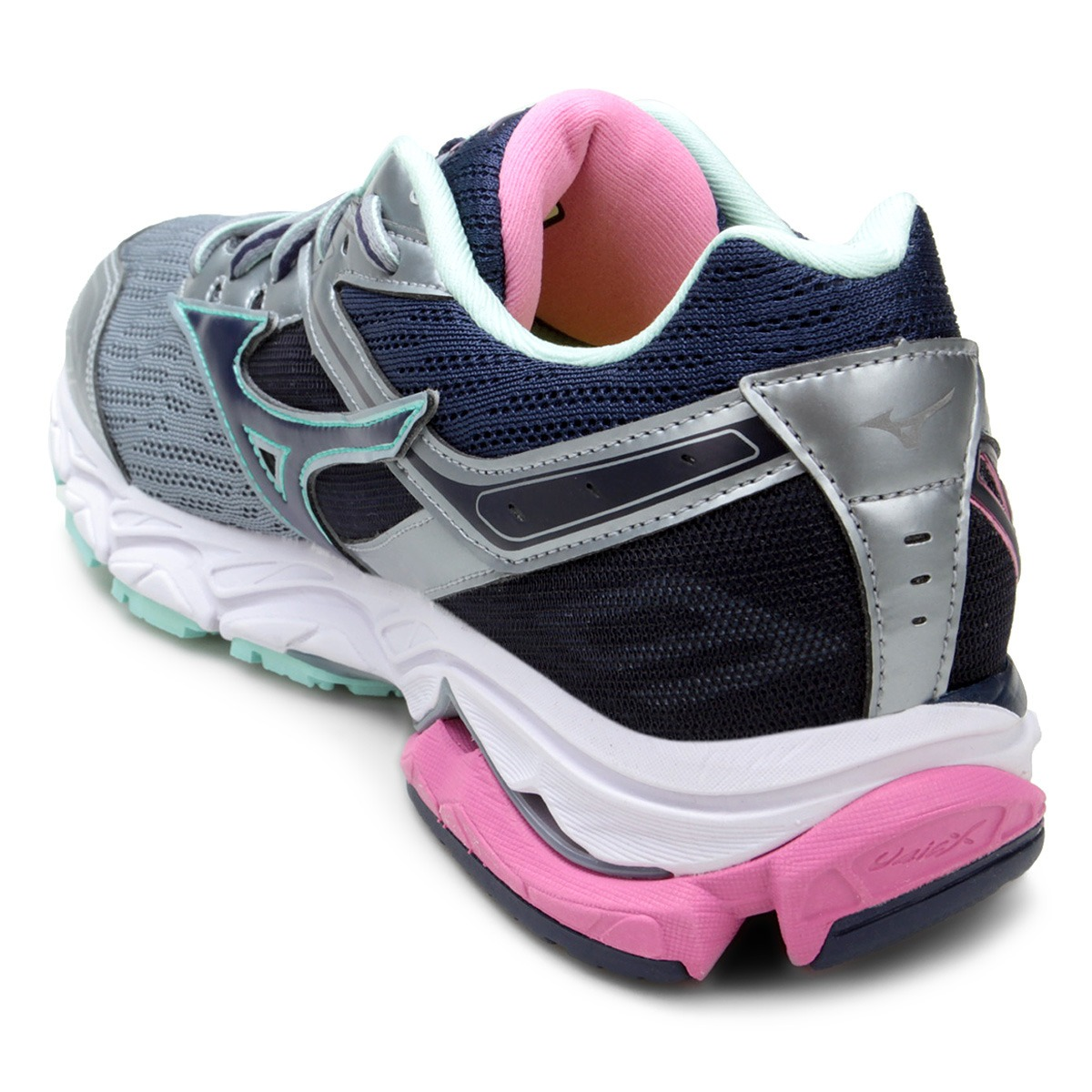 0191a562dd tênis mizuno wave ultima 9 feminino - prata e azul e rosa. Carregando zoom.