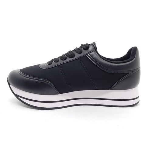 tênis moleca jogging flatform preto
