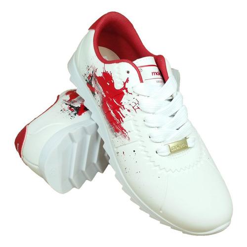 tênis moleca tratorado branco confortável original com nf