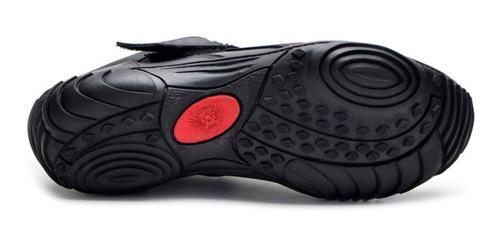 tênis motociclista de couro legítimo valentino rossi preto