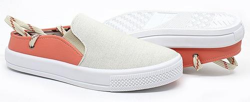 tênis mule casual sapatênis feminino iate amarrar exclusivo