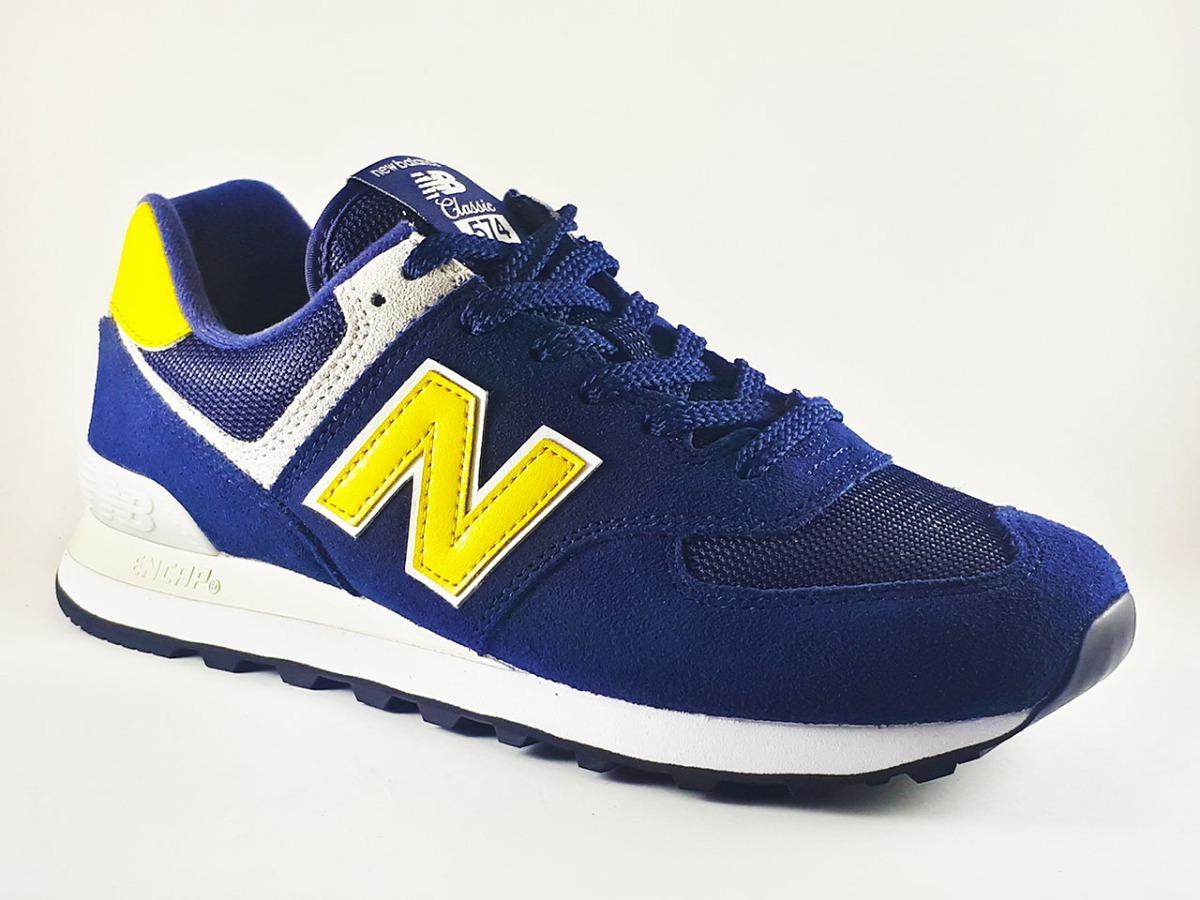 0cb1cb727a3 tênis new balance 574 azul masculino original. Carregando zoom.