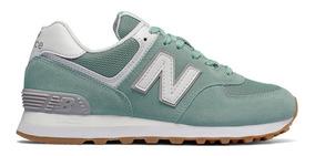 new balance 574 feminino verde