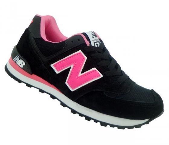 4aab5b9468d Tênis New Balance Casual Feminino - Cinza E Rosa!!! - R  65