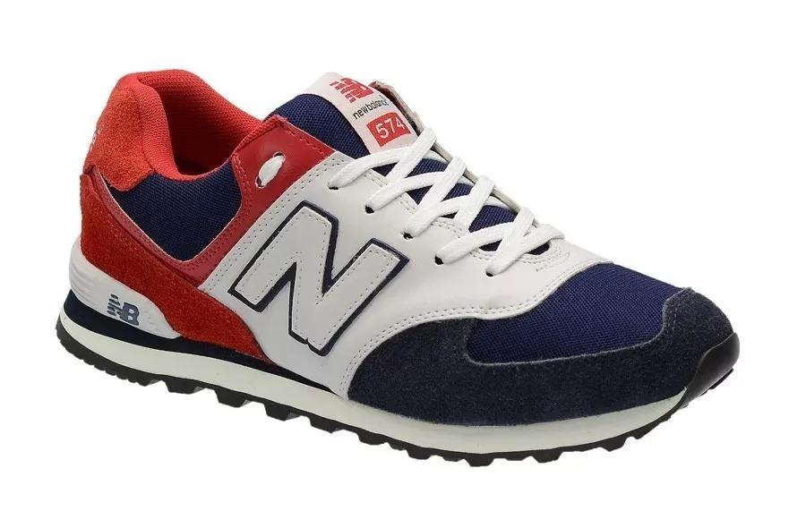 ... 18a2f33cf96 Tênis New Balance 574 Nb Casual Masculino Azul E Vermelho -  R 89 7f68f22c8df59