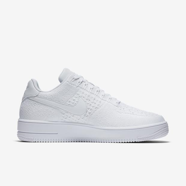 Tênis Nike Air Force 1 Flyknit Low Masculino Branco Original - R ... 305fb3d3bc369