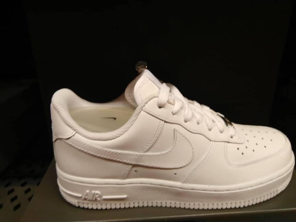 Tênis Nike Air Force 1 Low Cano Baixo Branco Original!