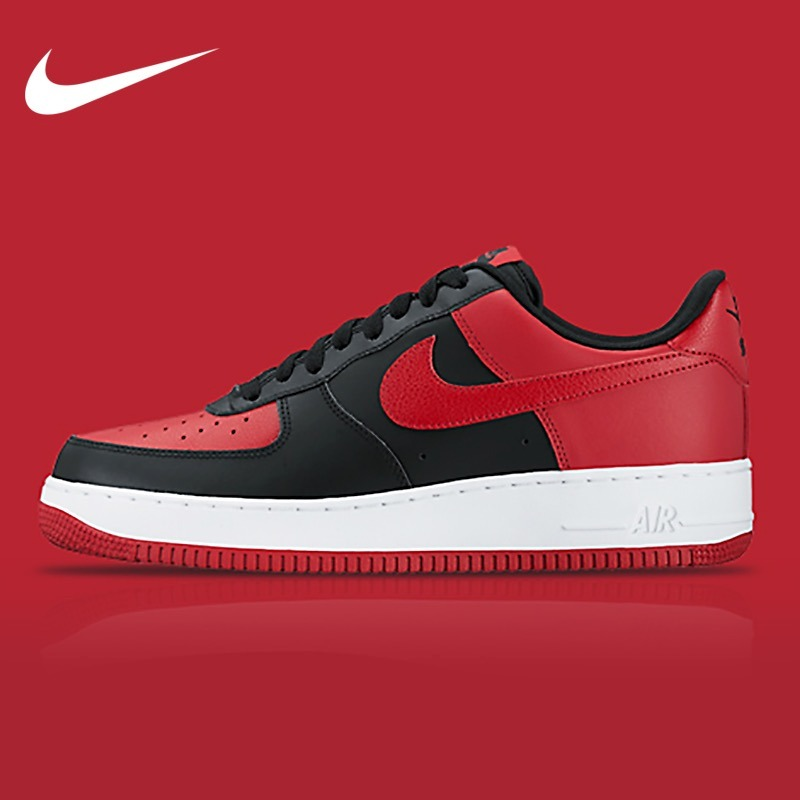 Tênis Chicago Force Nike Air 1 Low Jordan Bred dxCBoe