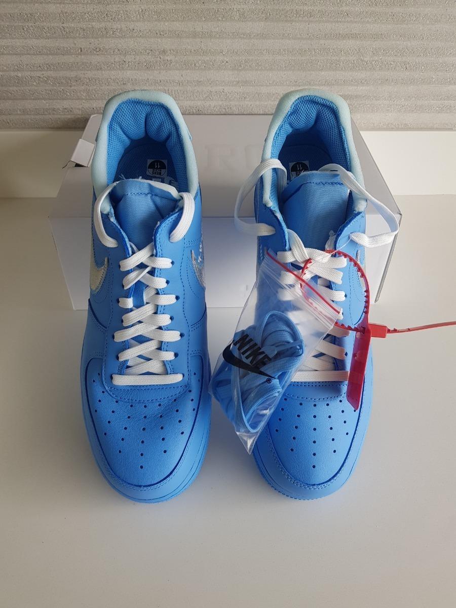 Tênis Nike Air Force 1 Low Off white Mca University Blue