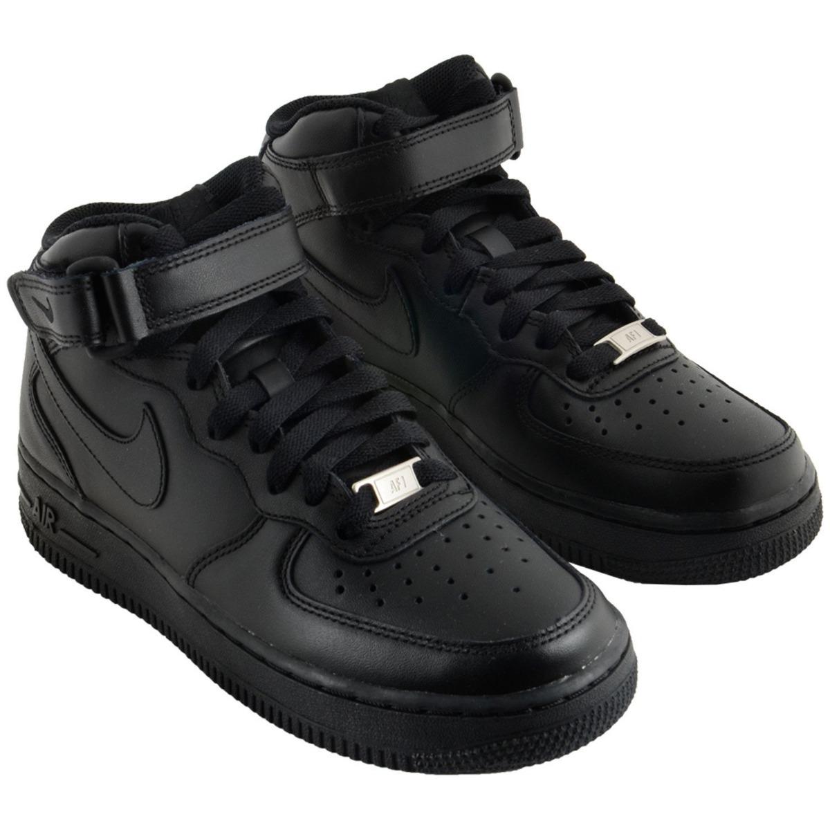 Tênis Nike Air Force 1 Mid Feminino Botinha Preto Botinha Feminino Original  R 385 ... 1dcbc5