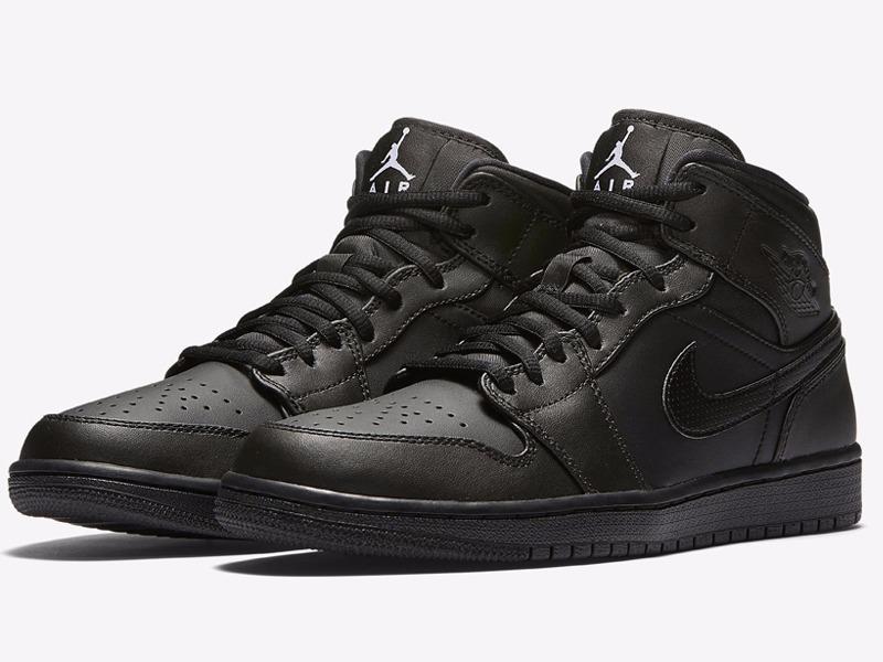 f69fc7c0390db Tênis Nike Air Jordan 1 Mid Triple Black Og - Pronta Entrega - R ...