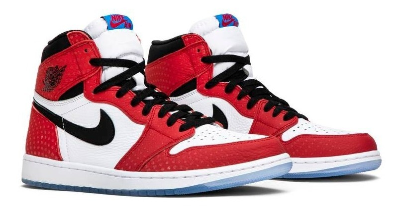 urzędnik na stopach o kupować tanio Tênis Nike Air Jordan 1 Retro High Spider-man Origin Story