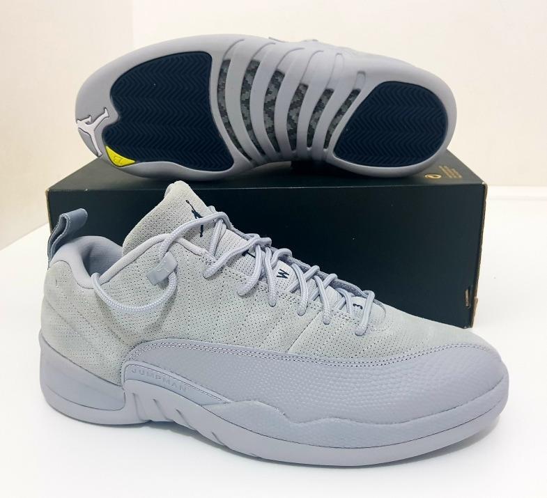 Tênis Nike Air Jordan 12 Retro Low Wolf Grey 43