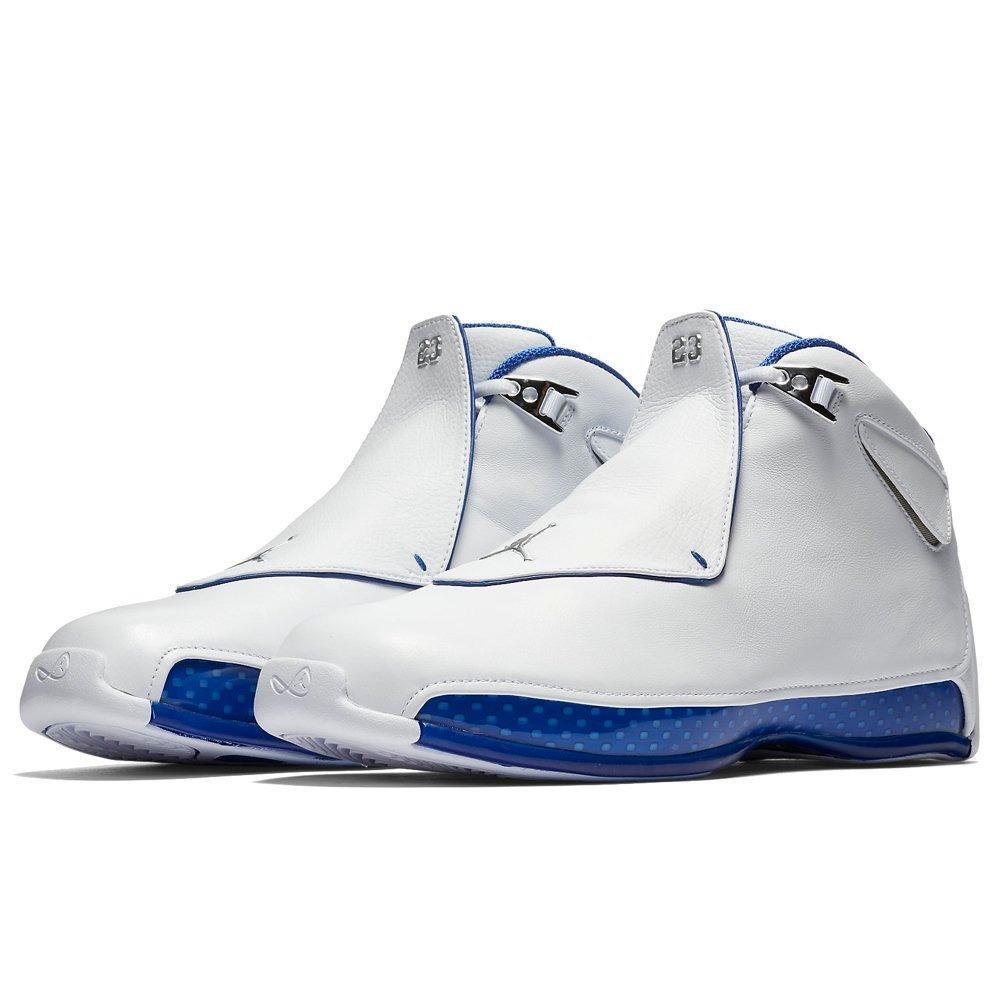 dea2acb970 tênis nike air jordan 18 retro branco azul! pronta entrega. Carregando zoom.