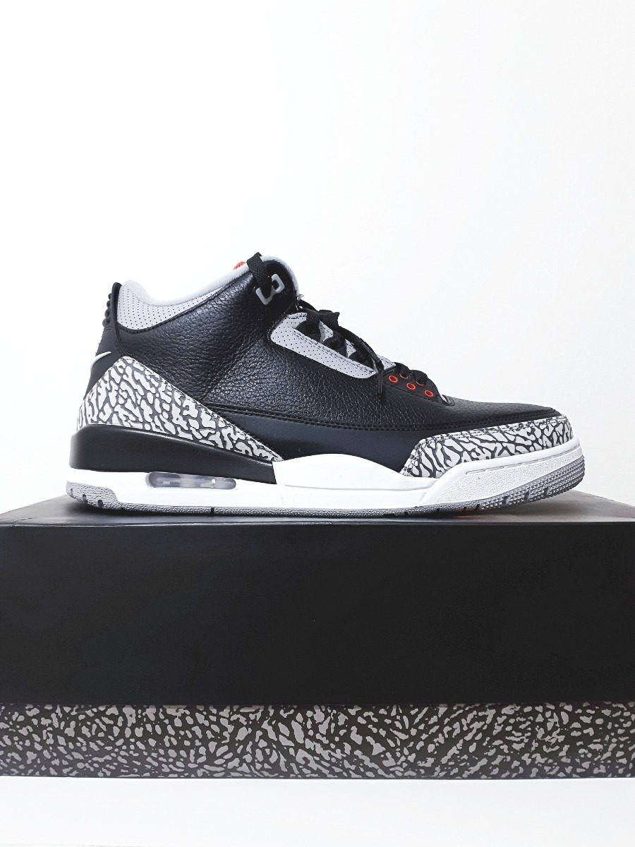 super popular 4bf73 ca9f1 Tênis Nike Air Jordan 3 Retro Og Black Cement Original N. 44