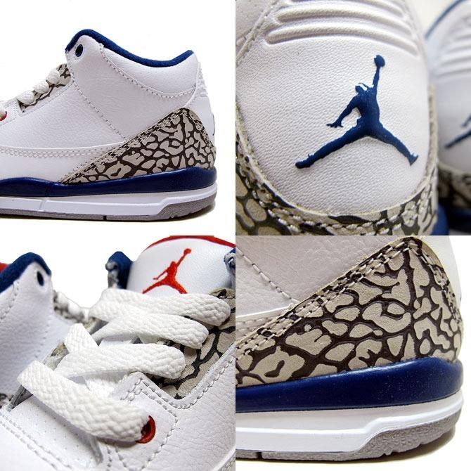79e33383c Tênis Nike Air Jordan 3 Retro Og True Blue Infantil - R  349