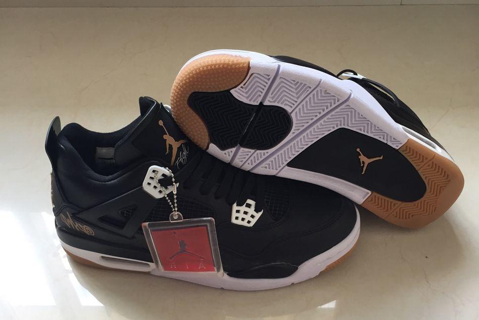 best service 908c6 60bf7 Tênis Nike Air Jordan 4 Retro Black Gold Original