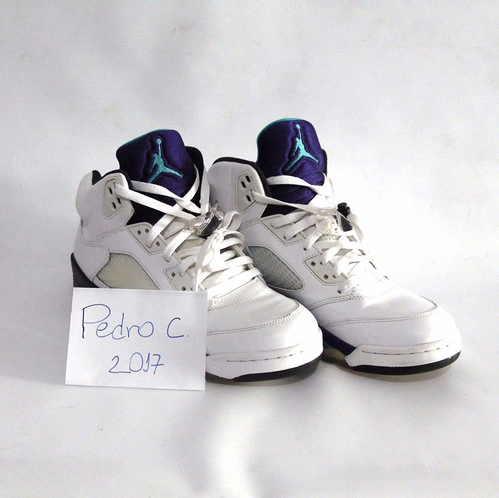 de93047ae33 tênis nike air jordan 5 white grape usado. Carregando zoom.