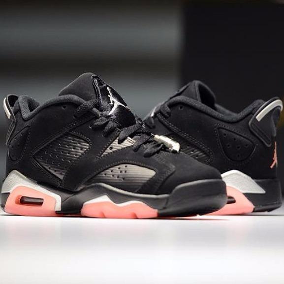 13eb2e57bc5 Tênis Nike Air Jordan 6 Low Gg Sunblush Retro Blackcat Novo - R  649 ...