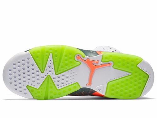 b4d990415e9 Tênis Nike Air Jordan 6 Retro Bg Hasta Mango Basketball - R  499