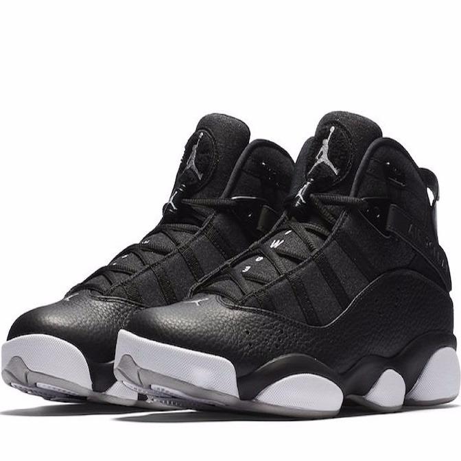 9cb254e39c8 Tênis Nike Air Jordan 6 Vl Rings Black Couro Basquete Nba 13 - R ...