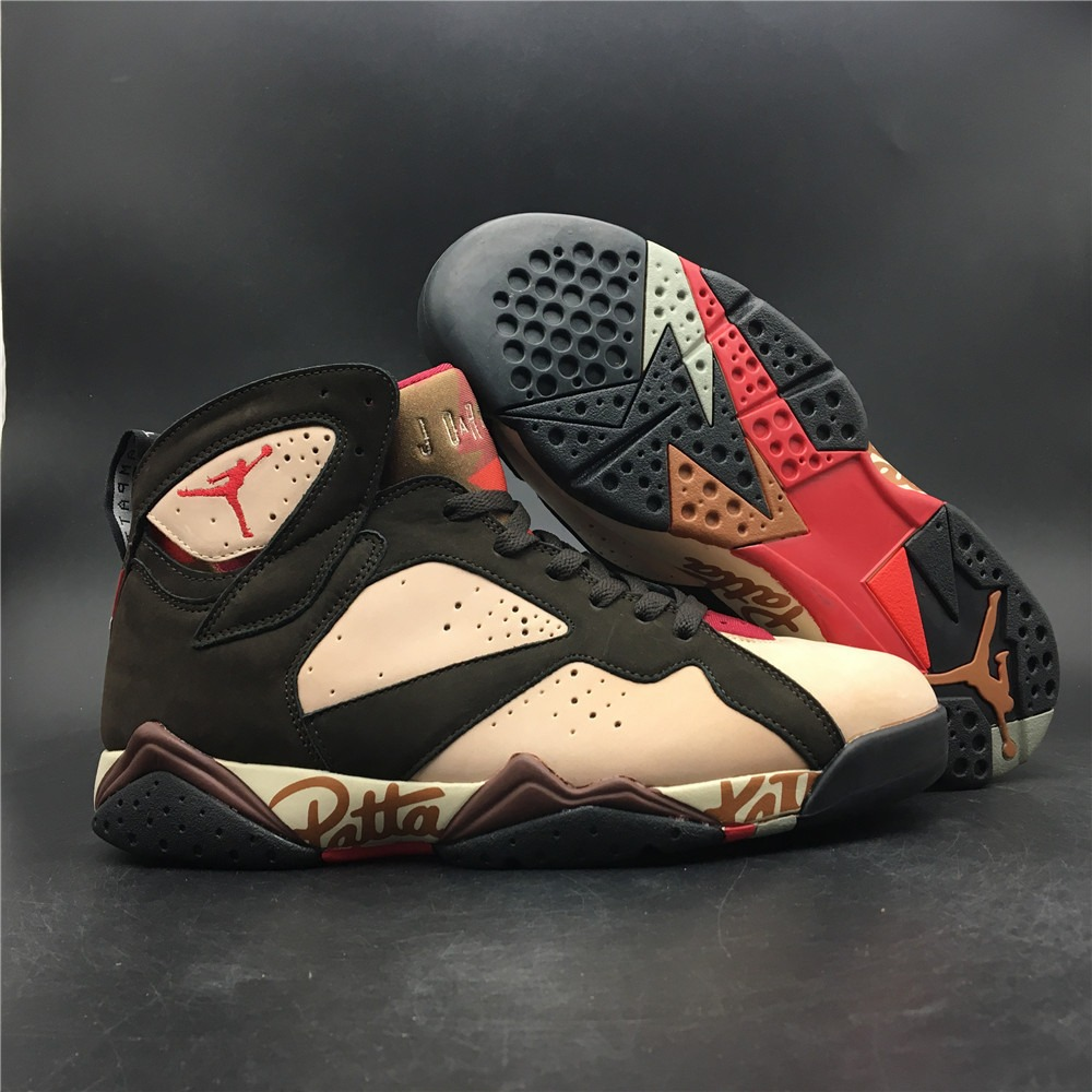 sneakers for cheap 3773f a2cb5 Tênis Nike Air Jordan 7 Retro Patta Brown Original