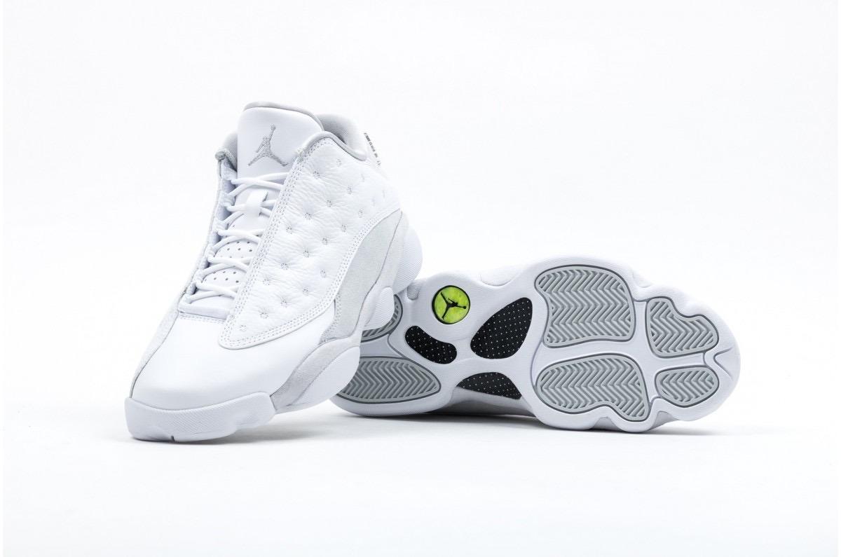 quality design a23cc a225a Tênis Nike Air Jordan Retro 13 Xiii Low Pure Money Sneaker