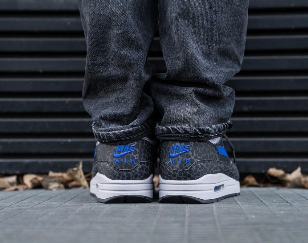 Tênis Nike Air Max 1 Se Reflective Off Noir Hyper Blue Atmosphere Masculino.