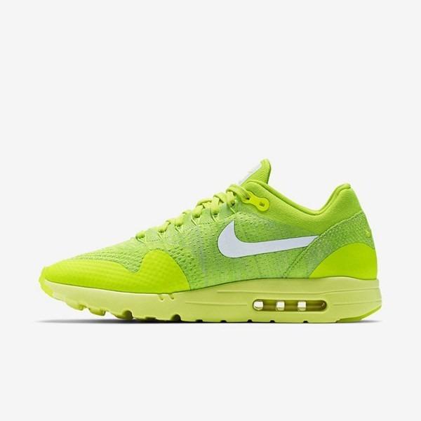 cc6b6038039 Tênis Nike Air Max 1 Ultra Flyknit Verde Limão - R  350