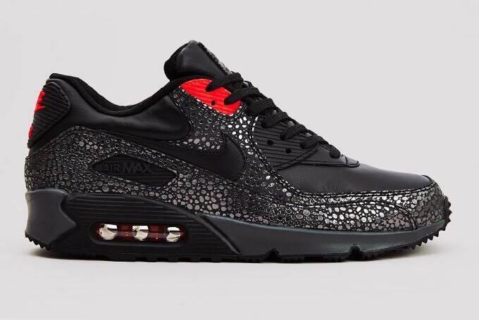 sports shoes 35b79 44a62 ... premium em zapatos blancos negros - air max 90 para hombre  tênis nike  air max 90 safari pack original masculino barato new high quality 9882a  1e486 ...