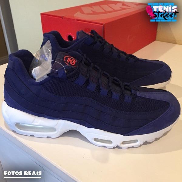 6764b83e5 Tênis Nike Air Max 95 By Stüssy - Original - Azul / Branco - R$ 599 ...