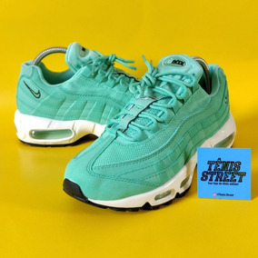 91f3ac5fc42 Tênis Nike Air Max  95 Green White - Verde Água   Branco