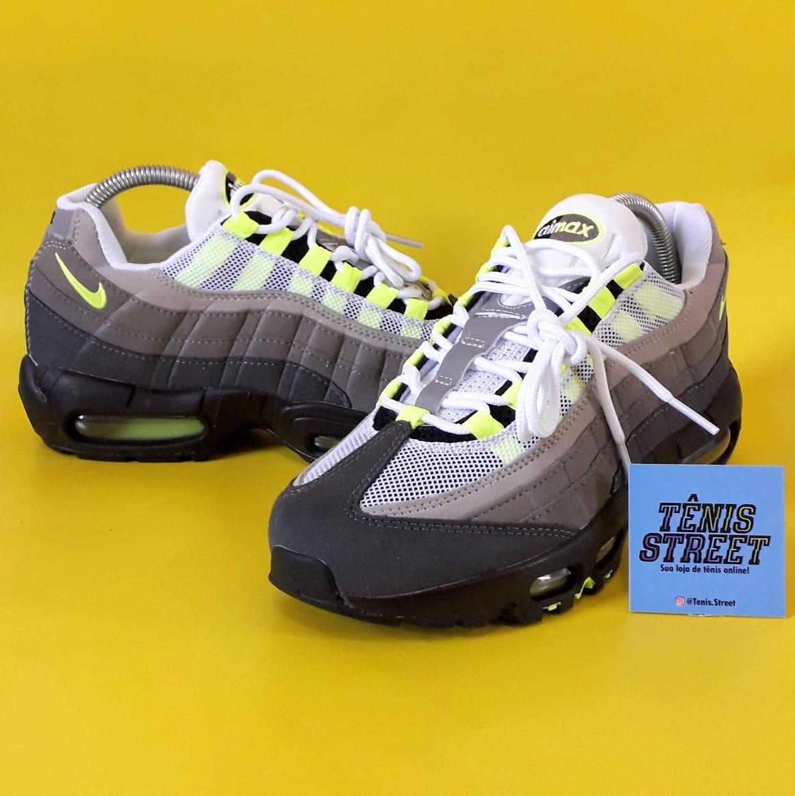 Tênis Nike Air Max 95 ( Og Neon ) Cinza Preto Verde Neon