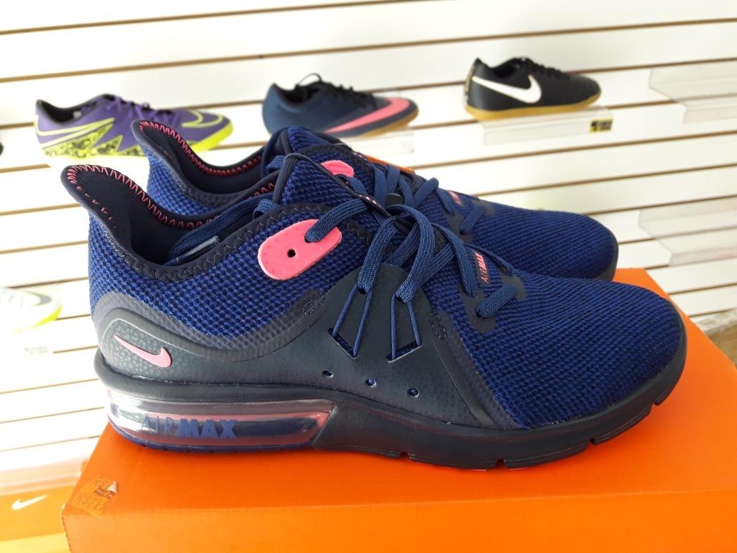cb769fc4843 tênis nike air max fury sequent 3 feminino - azul e rosa. Carregando zoom.