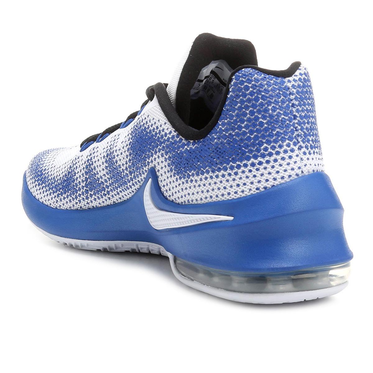 0d43106151d tênis nike air max infuriate low masculino - branco e azul. Carregando zoom.