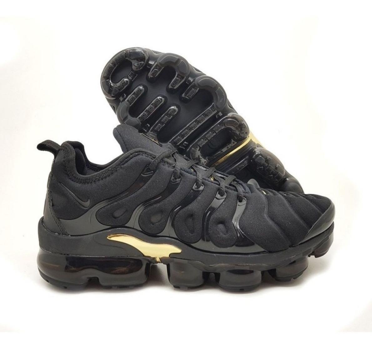 outlet store f9efc 23374 Tênis Nike Air Max Plus Vapormax Original Preto/dourado!!
