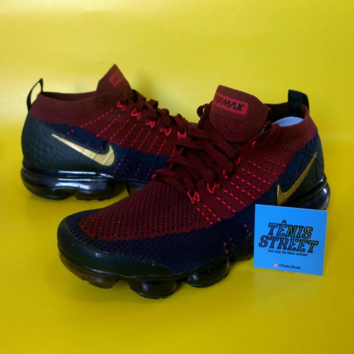 Tênis Nike Air Vapormax Flyknit 2 ( Barcelona ) Vinho   Azul - R ... 08a34115a1d13