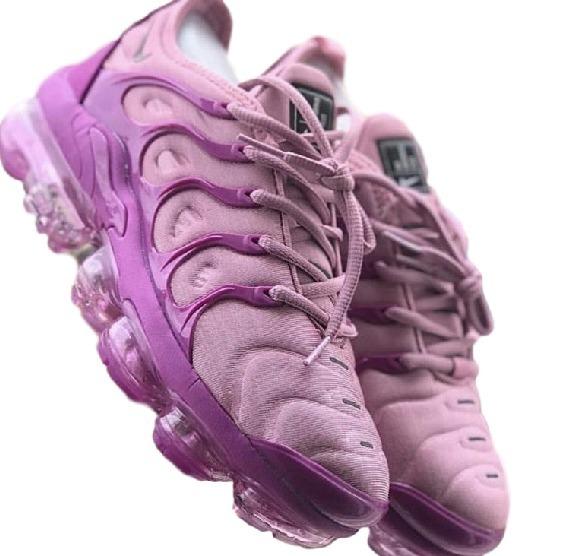 e18d97e4e Tênis Nike Air Vapormax Plus Feminino Todo Rosa Claro Fuscia - R ...