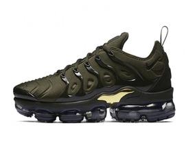 sports shoes e2f02 dbc4c Tênis Nike Air Vapormax Plus, Verde Com Dourado 2019