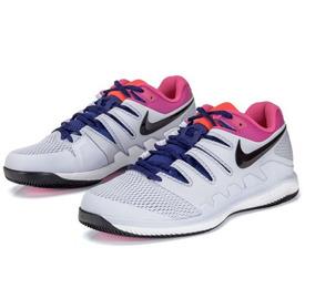 best service 47728 d521c Tênis Nike Air Zoom Vapor X Hc Federer - Azul E Pink