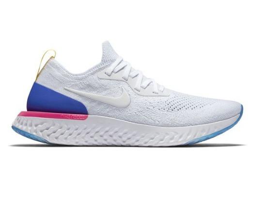 14612792ed4fc Tênis Nike Epic React Flyknit Feminino Branco Color Moda - R  660