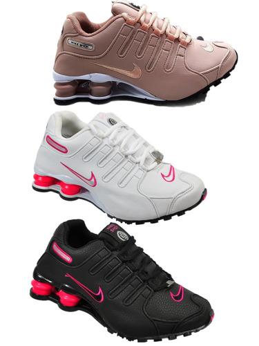 Tênis Nike Shox 4 Molas Feminino Nz Se Eu Originals 3 Pares - R  400 ... 55a1d5ffb56f3