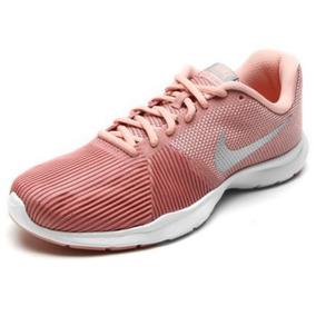 b8fde53c75b Tênis Nike Feminino Flex Bijoux - Rosa E Prata