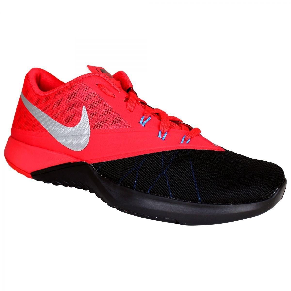 9acfb06560 Tênis Nike Fs Lite Trainer 4 - Preto vermelho - Frete Grátis - R ...