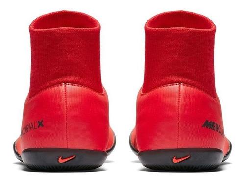 tênis nike futsal mercurial victory botinha vermelha adulto