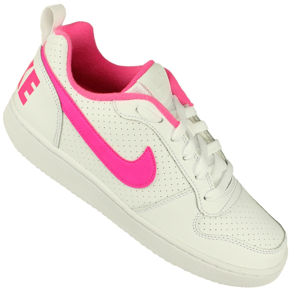 6ce29aa85 Tênis Nike Juvenil Botinha Branco-rosa Original Nfe Freecs - R  279 ...