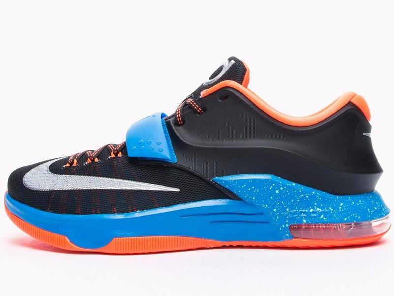best service 3c78a 51c7e Nike Kevin Durant KD 7 (VII) OKC Away Black Photo Blue  Carregando zoom.